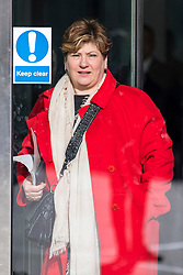 © Licensed to London News Pictures. 11/02/2018. London, UK. Shadow First Secretary of State Emily Thornberry leaving BBC Broadcasting House. Photo credit: Rob Pinney/LNP