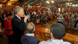 O candidato à reeleição pelo PDT em Porto Alegre, José Fortunati, durante reunião de Lideranças da Lomba do Pinheiro. FOTO: Jefferson Bernardes/Preview.com