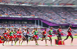 11.08.2012, Olympia Stadion, London, GBR, Olympia 2012, 5000m, Herren, Finale, im Bild Uebersicht // overview during Men's 5000m Final at the 2012 Summer Olympics at Olympic Stadium, London, United Kingdom on 2012/08/11. EXPA Pictures © 2012, PhotoCredit: EXPA/ Johann Groder