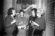 13/11/1967<br /> 11/13/1967<br /> 13 November 1967<br /> Leather Fashions at the Gresham Hotel, Dublin.<br /> Pictured at the event L-R: Mrs. I.Mirelson; Mrs David Vard; Mrs Harold Vard and Miss Ann Bunburm all of Vard & Vince.