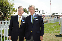 Left to right, the French Ambassador MAURICE GOURDAULT-MONTAGNE and ARNAUD BAMBERGER he is MD of Cartier at the Cartier International Polo at Guards Polo Club, Windsor Great Park on 27th July 2008.<br /> <br /> NON EXCLUSIVE - WORLD RIGHTS