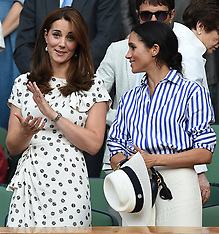 The Duchess of Cambridge and The Duchess of Sussex at Wimbledon  - 14 July 2018