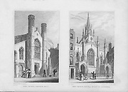 New churches Saffron Hill, Little Queen Street, Holborn, engraving 'Metropolitan Improvements, or London in the Nineteenth Century' London, England, UK 1828