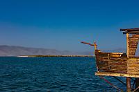 sunset  panorama landscape of Lake Sevan landmark of Gegharkunik Armenia eastern Europe