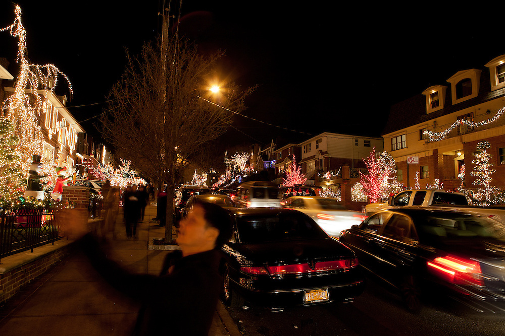 The Christmas displays in Brooklyn's Dyker heights are are viewd and photographed by thousands of visitors.