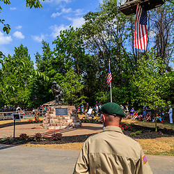 Ephrata, PA, USA - May 25, 2015: Hometown hero of WWII, Band of Brothers Commander Major Richard Winters statue was unveiled and dedicated on Memorial Day.