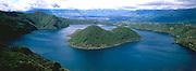 ECUADOR, HIGHLANDS Laguna Cuicocha north of Otavalo