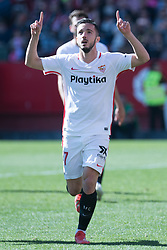 January 26, 2019 - Sevilla, Andalucia, Spain - Pablo Sarabia celebrate the 4th goal from Sevilla FC during the La Liga match between Sevilla FC v Levante UD at the Ramon Sanchez Pizjuan Stadium on January 26, 2019 in Sevilla, Spain (Photo by Javier Montaño/Pacific Press) (Credit Image: © Javier MontañO/Pacific Press via ZUMA Wire)