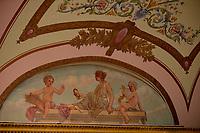 Colonial Theater renovation work. ©2021 Karen Bobotas Photographer