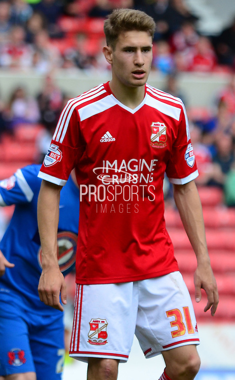 Will Randall during the Sky Bet League 1 match between Swindon Town and Leyton Orient at the County Ground, Swindon, England on 3 May 2015. Photo by Alan Franklin.