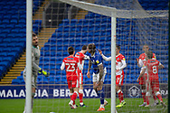 GOAL 0-1 Millwall's Aden Flint celebrates scoring his side's first goal during the EFL Sky Bet Championship match between Cardiff City and Millwall at the Cardiff City Stadium, Cardiff, Wales on 30 January 2021.