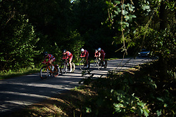Norwegian national team are the first to take to the road at the Crescent Vargarda - a 42.5 km team time trial, starting and finishing in Vargarda on August 11, 2017, in Vastra Gotaland, Sweden. (Photo by Sean Robinson/Velofocus.com)
