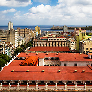 A view of colorful downtown Havana on a sunny afternoon.<br /> <br /> + ART PRINTS +<br /> To order prints or cards of this image, visit:<br /> http://greg-stechishin.artistwebsites.com/featured/havana-1-greg-stechishin.html