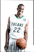 Tulane University basketball players in New Orleans.