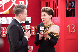 EDITORIAL USE ONLY<br /> Emma Willis in Virgin TV's Must-See Moment Lounge at the Virgin TV British Academy Television Awards.