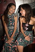 SARAH-ANN MACKLIN; ROSANNA FALCONNER; , spotted at Bloom & Wild's exclusive event at 5 Hertford Street last night. 5 September 2017. The event was announcing the new partnership between the UK's most loved florist, Bloom & Wild and British floral design icon Nikki Tibbles Wild at Heart. Cocooned in swaths of vibrant Autumn blooms, guests enjoyed floral-inspired cocktails from Sipsmith and bubbles from Chandon, with canapés put on by 5 Hertford Street. Three limited edition bouquets from the partnership can be bought through Bloom & Wild's website from the 1st September.  bloomandwild.com/WAH