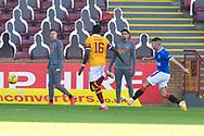 GOAL 0-2 Jordan Jones (Rangers) scores during the Scottish Premiership match between Motherwell and Rangers at Fir Park, Motherwell, Scotland on 27 September 2020.