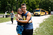 Shadow Drum and Bugle Corps members are seen at Flat Rock River YMCA Camp in St. Paul, Indiana on August 10, 2018. <br /> <br /> Beth Skogen Photography - www.bethskogen.com