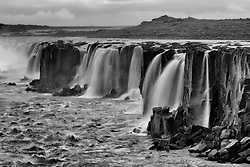 Selfoss, waterfall north east of Iceland -