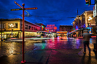 First Avenue & Pike Street @ Blue Hour, Seattle
