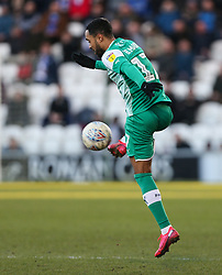 Byron Moore of Plymouth Argyle - Mandatory by-line: Arron Gent/JMP - 08/02/2020 - FOOTBALL - JobServe Community Stadium - Colchester, England - Colchester United v Plymouth Argyle - Sky Bet League Two