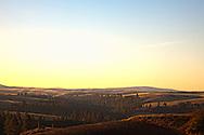 Rolling hilss and fields of Palouse region of Washington USA