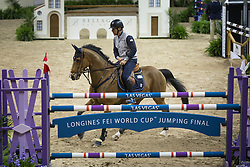 Gulliksen Geir, (NOR), Edesa S Banjan <br /> Training session<br /> Longines FEI World Cup™ Jumping Finals <br /> Las Vegas 2015<br />  © Hippo Foto - Dirk Caremans<br /> 15/04/15