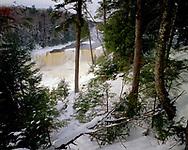 Tahquamenon Falls State Park, Michigan, January, 1988.