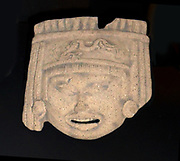 Huehueteotl, Aztec god of fire. Usually depicted as an old man. On his head is a dish to hold fire or incense. Veracruz culture 300-1200 AD, Mexico