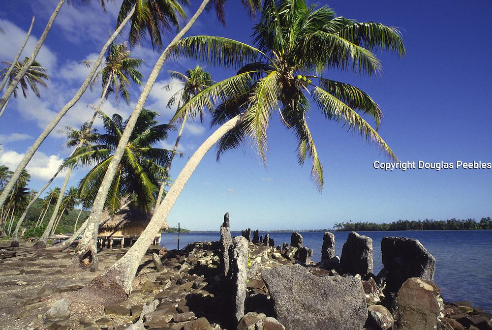 Marae (temple) Huahine, French Polynesia<br />