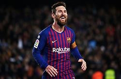 January 17, 2019 - Barcelona, Catalonia, Spain - Leo Messi during the match between FC Barcelona and Levante UD, corresponding to the 1/8 final of the spanish cup, played at the Camp Nou Stadium, on 17th January 2019, in Barcelona, Spain. (Credit Image: © Joan Valls/NurPhoto via ZUMA Press)