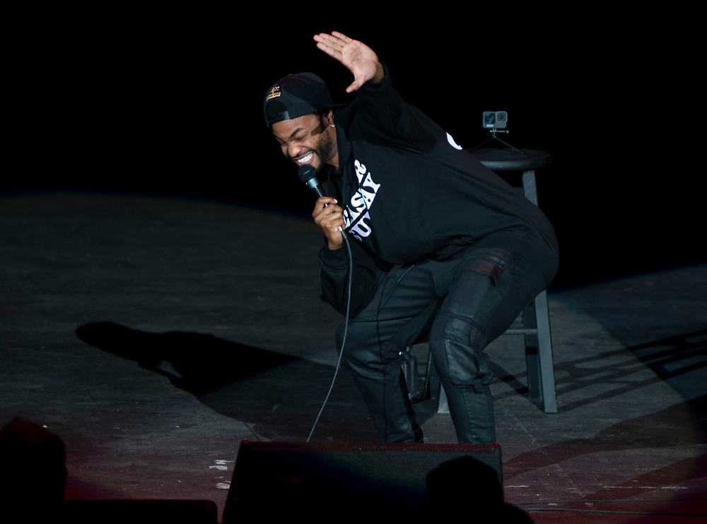 King Bach performing at Pacific Amphitheatre August 15, 2021. (Photo by Miguel Vasconcellos, OC Fair & Event Center)