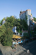 The Hundertwasser House, the first and most famous public housing project by Austrian artist and architekt Friedensreich Hundertwasser.