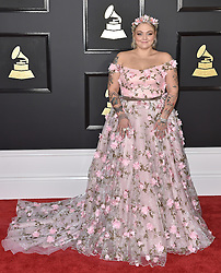 Celebrities arrive on the red carpet for the 59th Grammy Awards held at the Staples Centre in downtown Los Angeles, California. 12 Feb 2017 Pictured: Elle King. Photo credit: Bauergriffin.com / MEGA TheMegaAgency.com +1 888 505 6342