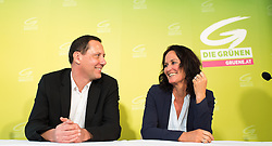 16.12.2016, Impact Hub, Wien, AUT, Grüne, Präsentation des neu gewählten Bundesgeschäftsführer. im Bild v.l.n.r. Bundesgeschäftsführer Robert Luschnik und Grüne Klubobfrau Eva Glawischnig // f.l.t.r. federal manager Robert Luschnik and Leader of the parliamentary group the greens Eva Glawischnig<br />  during presentation of the new federal manager of the parliamentary group the greens in Vienna, Austria on 2016/12/16. EXPA Pictures © 2016, PhotoCredit: EXPA/ Michael Gruber