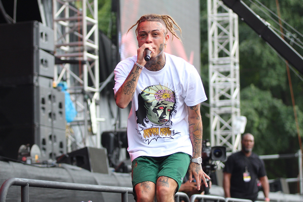 Lil Skies performs at Made In America in Philadelphia, PA on September 2, 2018.