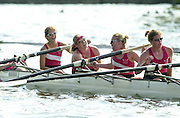 Henley. England. St Paul's School, Concord USA. J4+ 2001 Henley Women's Henley  Regatta, Henley Reach. United Kingdom. [Mandatory Credit: Peter Spurrier / Intersport Images] 20010623 Women's Henley Regatta.