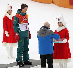 February 14, 2018 - PyeongChang, South Korea - Bronze medal winner SCOTTY JAMES of Australia, during the venue podium ceremony in Snowboard Men's Halfpipe Final at Phoenix Snow Park during the 2018 Pyeongchang Winter Olympic Games. (Credit Image: © Scott Mc Kiernan via ZUMA Wire)