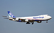 JA12KZ Nippon Cargo Airlines (NCA) Boeing 747-8F Photographed at Malpensa airport, Milan, Italy