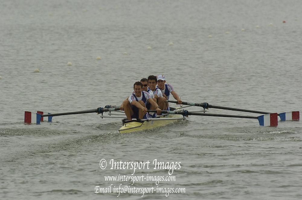 Eton, GREAT BRITAIN, FRA, LM4-, at the start,   2006 World Rowing Championships, 21/08/2006.  Photo  Patrick White, © Intersport Images,  Tel +44 [0] 7973 819 551,  email images@intersport-images.com , Rowing Courses, Dorney Lake, Eton. ENGLAND