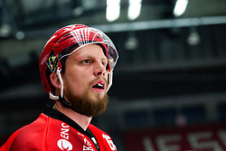 Miha BRUS during First league match between HDD Acroni Jesenice vs HK SZ Olimpia, on April 23, 2019 in Jesenice, Slovenia. Photo by Peter Podobnik / Sportida