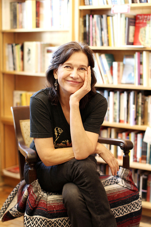 """Author Louise Erdrich photographed in her bookstore, Birchbark Books and Native Arts, in Minneapolis, MN, September 27, 2012.  Erdrich's new book is """"The Round House."""" The novel is about a woman who suffers psychological trauma after an attack, and her son tries to help by visiting the Round House, a sacred space and place of worship for the Ojibwe. (Courtney Perry/for the Chicago Tribune).."""