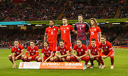October 11, 2018 - Cardiff City, Walles, United Kingdom - Cardiff, Wales October 11, .The Wales team during Exhibition Match between Wales and Spain at Principality stadium, Cardiff City, on 11 Oct  2018. (Credit Image: © Action Foto Sport/NurPhoto via ZUMA Press)