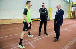 Dejan Kelhar, Andrej Kracman, Marko Nikolic during first training of NK Olimpija Ljubljana before spring season when presented Olimpija's new coach, on January 11, 2016 in ZAK stadium, Ljubljana, Slovenia. Photo by Vid Ponikvar / Sportida