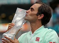 Roger Federer Wins Miami Tennis Open - 31 Mar 2019