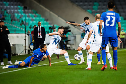 Amedej Vetrih of Slovenia with Petar Stojanovic of Slovenia during football match between National Teams of Slovenia and Greece in UEFA Nations League 2020, on September 3, 2020 in SRC Stozice, Ljubljana, Slovenia. Photo by Grega Valancic / Sportida