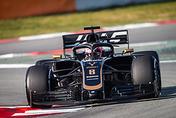 February 21, 2019 - Barcelona, Spain - 08 GROSJEAN Romain (fra), Haas F1 Team VF-19 Ferrari, action during Formula 1 winter tests from February 18 to 21, 2019 at Barcelona, Spain - Photo  Motorsports: FIA Formula One World Championship 2019, Test in Barcelona, (Credit Image: © Hoch Zwei via ZUMA Wire)