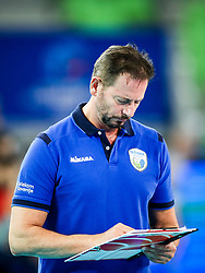 Alberto Giuliani, head coach of Slovenia during volleyball match between Slovenia and Chile in Group A of FIVB Volleyball Challenger Cup Men, on July 3, 2019 in Arena Stozice, Ljubljana, Slovenia. Photo by Matic Klansek Velej / Sportida
