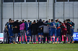 Players of Slovenia celebrate after the football match between National teams of Greece and Slovenia in Final tournament of Group Stage of UEFA Nations League 2020, on November 18, 2020 in Georgios Kamaras Stadium, Athens, Greece. Photo by BIRNTACHAS DIMITRIS / INTIME SPORTS / SPORTIDA