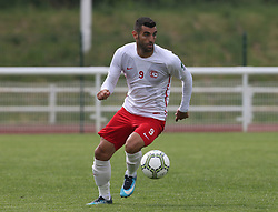 May 31, 2018 - London, United Kingdom - Tansel Ekingen of Northern Cyprus.during Conifa Paddy Power World Football Cup 2018  Group B match between Northern Cyprus against Karpatalya at Queen Elizabeth II Stadium (Enfield Town FC), London, on 31 May 2018  (Credit Image: © Kieran Galvin/NurPhoto via ZUMA Press)